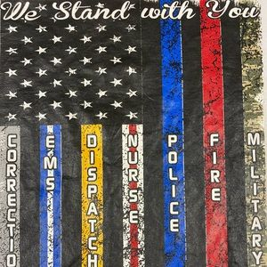 We Stand With You T-Shirt EMT EMS Police